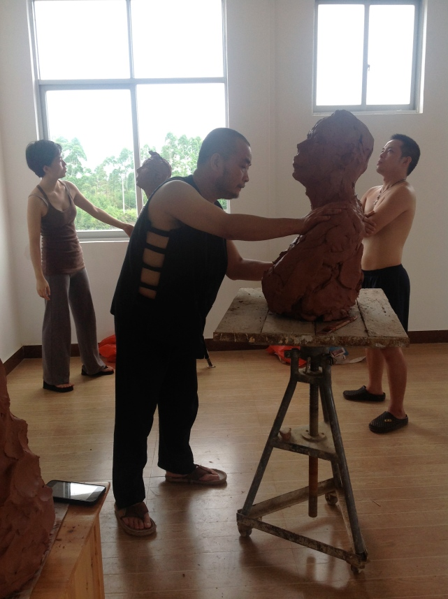Bei Bei and Jiganag working in QinZhou 2013