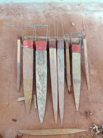 Handmade sculpture tools from GuangXi 2013