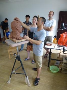 Portrait demo at Huyai QunZhou NiXing Pottery Factory 2013